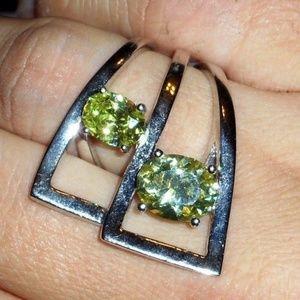 Jewelry - 🛍😍Sterling Peridot Citrine Gems Statement Ring